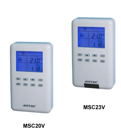 MSC20V series one to one LCD fan coil unit control panel is a special-purpose field operation man-machine interface.
